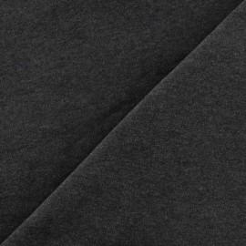 Tissu velours éponge jersey carbone x 10cm