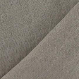 Tissu Lin lavé Castor beige  x 10cm