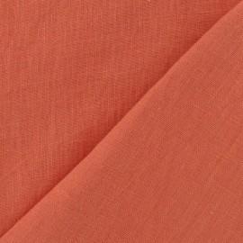 Tissu Lin lavé Corail x 10cm