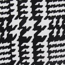 Tissu Gabardine Lycra noir et blanc I x 10cm