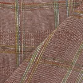 Tissu lin écossais tomette x 10cm