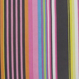 Tissu mousseline rayure multi C x 50 cm