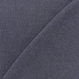 Tissu Maille lurex gris x 10cm