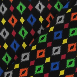 Tissu gabardine losanges noir x 10 cm