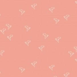 Tissu Bloom popeline Bye Bye Birdie blush x 10cm