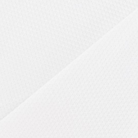 Tissu piqué de coton tissé blanc x 10cm