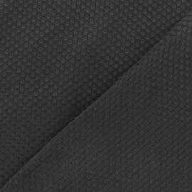 Tissu piqué de coton tissé noir x 10cm