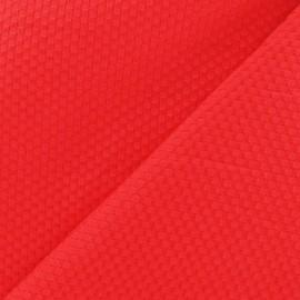 Tissu piqué de coton tissé rouge x 10cm