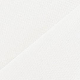 Tissu piqué de coton tissé écru x 10cm
