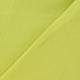 Tissu piqué de coton tissé anis x 10cm