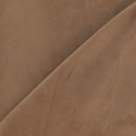 Tissu Suédine élasthanne sable foncé x 10cm