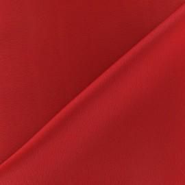 Tissu crèpe envers satin rouge x 10cm
