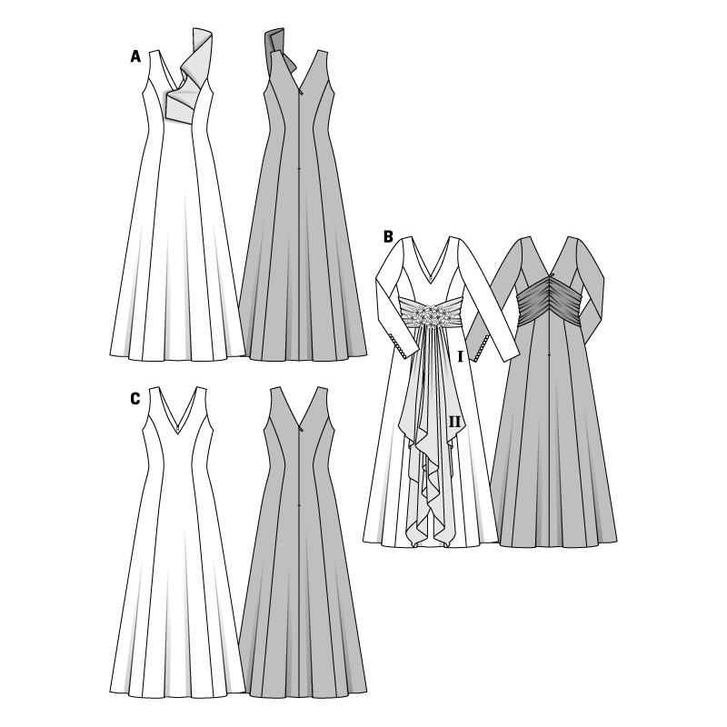 Patron robe de soir e gratuit pictures to pin on pinterest - Patron de robe de soiree ...
