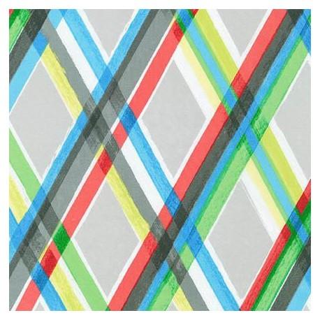 Tissu color full losange multi x 10cm ma petite mercerie - Tissus bohemes colores ...
