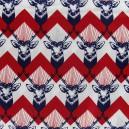 Tissu Popeline Echino by Etsuko Furuya Cerf Bleu x10 cm