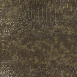 Simili cuir Alligator taupe x 10cm
