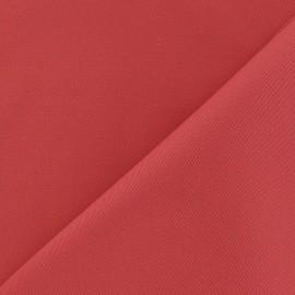 Tissu coton sergé corail x 10cm
