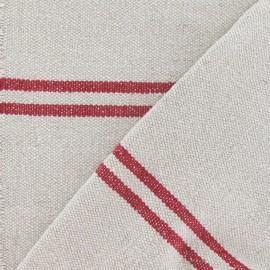 Tissu coton tissé Joséphine rouge x 10cm
