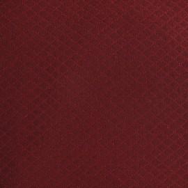 Tissu piqué Losange griotte x 10cm