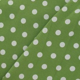 Tissu sweat pois blanc fond gris anthracite x 10cm