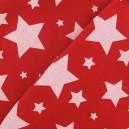 Tissu sweat nuit étoilée rouge x 10cm