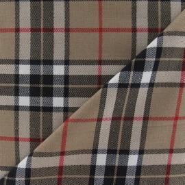 Tissu tartan écossais Marine / Carmin / Jaune x10cm