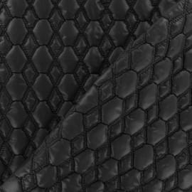 Tissu doublure matelassé gaufré hexagone gris souris x 10cm