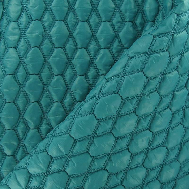 Tissu matelass gaufr hexagone bleu canard x 10cm ma petite mercerie - Tissu velours bleu canard ...
