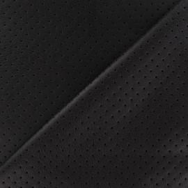 Tissu enduit souple micro perforé Taupe x 10cm