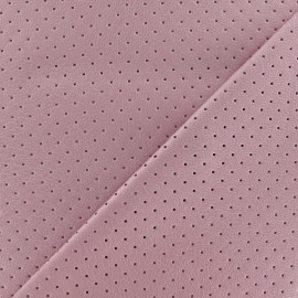 Tissu enduit souple micro perforé Parme x 10cm