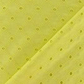 Tissu Lattice eyelet strf x 10cm