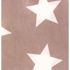 Tissu coton enduit grandes étoiles Gris x 10cm