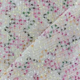 Tissu fil multicolore fantaisie Brun  x 10cm