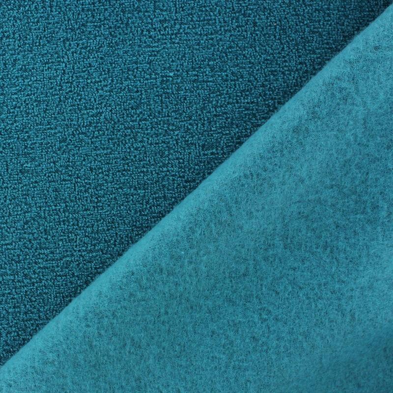 Tissu polaire boucl e bleu canard x 10cm ma petite mercerie - Tissu velours bleu canard ...