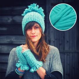 Maille Love - kit tricot bleu Hawaii