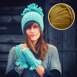 Maille Love - kit tricot ocre curry