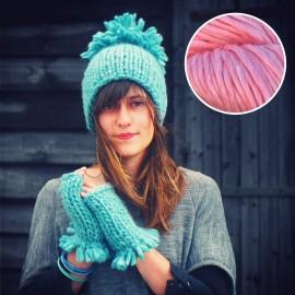 Maille Love - kit tricot rose Barbapapa