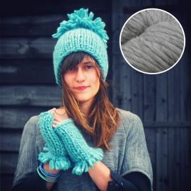 Maille Love - kit tricot gris pierre sèche