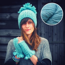 Maille Love - kit tricot bleu ciel d'été
