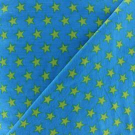 Tissu velours milleraies étoiles parme fond violet foncé x 10cm