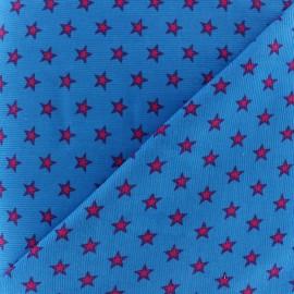 Tissu velours milleraies étoiles orange fond rouge x 10cm