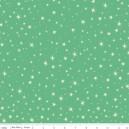 Tissu Witch Stars green x 10cm