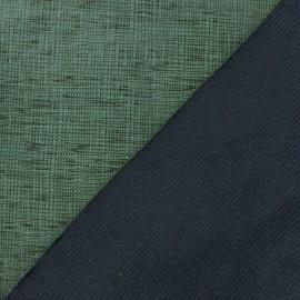 Tissu polyester imprimé effet enduit olive x 10 cm