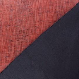Tissu polyester imprimé effet enduit noir x 10 cm