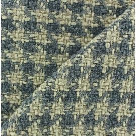 Tissu Tweed petit carreaux beige x 10cm