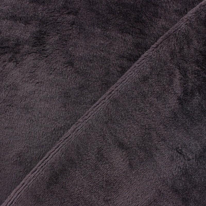 tissu sweat envers minkee lie de vin x 10cm ma petite mercerie. Black Bedroom Furniture Sets. Home Design Ideas