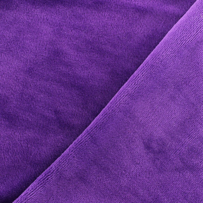 tissu sweat envers minkee violet x 10cm ma petite mercerie. Black Bedroom Furniture Sets. Home Design Ideas
