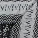 Tissu Jersey Alrun motif Jacquard gris x 24cm