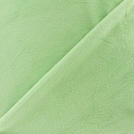 Tissu velours minkee doux ras Bleu dragée x 10cm