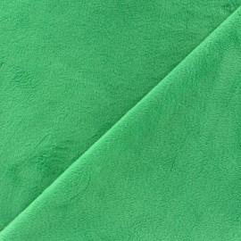 Tissu velours minkee doux ras Marine x 10cm